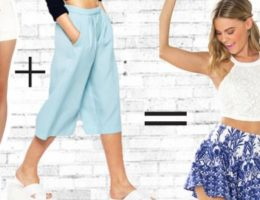 High Waist Shorts + Culottes = The Most Adorable Flowy Short Trend Ever